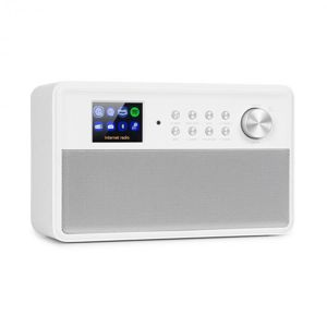 "Auna Connect Link, inteligentní rádio, IR/DAB+/FM, Spotify, BT, 2,4"" HCC displej, bílé"