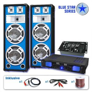 "Electronic-Star Set ""Bassveteran USB"" z řady Blue Star, 1200W"
