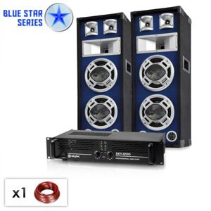 "Electronic-Star ""Bassboom"", 1600 W, PA set ze série Blue Star"